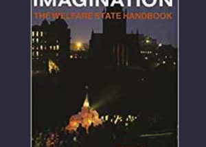 """""""Engineers of the Imagination: The Welfare State Handbook"""" edited by Tony Coult and Baz Kershaw. Coverart is a long shot of a procession through a city. In the shadow of a Catherdral, a large group of people in extravagant suits walk with a white model of the cathedral glowing with yellow light."""